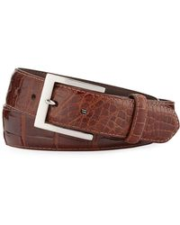 W. Kleinberg | Glazed Alligator Belt With Interchangeable Buckles | Lyst