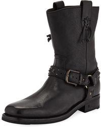 John Varvatos - Men's Berlin Leather Harness Boots - Lyst