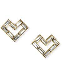 Lulu Frost Adore Stud Earrings - Metallic