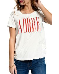 Sol Angeles Adore Crewneck Tee - White