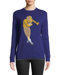COACH - Football Intarsia Sweater - Lyst