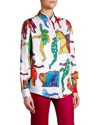 Stella McCartney Print Shirtall Together Now - Multicolor