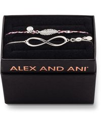 ALEX AND ANI Infinity Pull-chain Bracelet Gift Set, Silver - Metallic