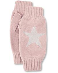 Rosie Sugden Star Intarsia Wrist Warmers - Orange
