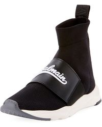 Balmain - Cameron Pull-on Logo Sneakers - Lyst