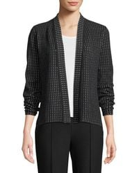 Eileen Fisher - Silk And Organic Cotton Simple Shaped Cardigan - Lyst