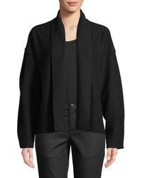 Eileen Fisher - Lightweight Boiled Wool Shawl-collar Jacket - Lyst