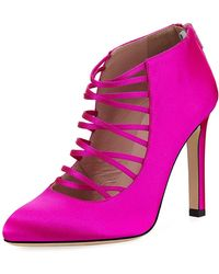SJP by Sarah Jessica Parker - Revere Satin Strappy Pump - Lyst
