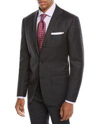 Kiton - Men's Tonal Plaid Two-piece Three-button Suit - Lyst