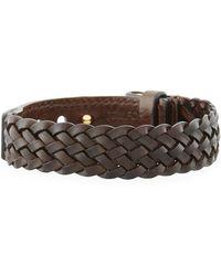 Tom Ford - Men's Braided Calf Leather T-buckle Bracelet - Lyst