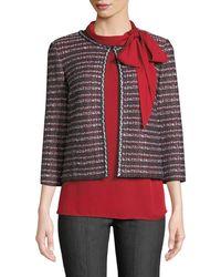 St. John - Tweed Jacket - Lyst