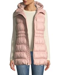 The North Face Cryos Hooded Down Puffer Vest in White - Lyst 883c5f076