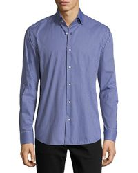 Neiman Marcus | Gingham Long-sleeve Sport Shirt | Lyst