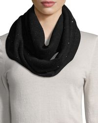 Sofia Cashmere | Sequined Cashmere/silk Infinity Scarf | Lyst