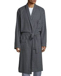 Neiman Marcus - Men's Brushed Flannel Robe - Lyst