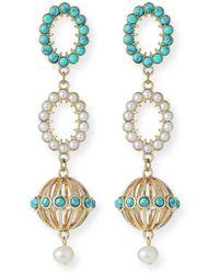 Lulu Frost Piazza Long Drop Earrings - Multicolor