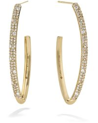 Lana Jewelry 14k Gold Blake Diamond Cluster Hoop Earrings - Metallic