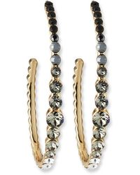 Lulu Frost Rainbow Hoop Earrings - Black