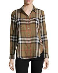 Burberry Brit - Long-sleeve Cotton Check Shirt - Lyst