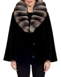 Gorski - Sheared Mink Jacket W/ Chinchilla Shawl Collar - Lyst