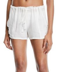 Ramy Brook - Cosmo Drawstring Cotton Shorts - Lyst