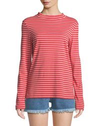 M.i.h Jeans - Emelie Striped Long-sleeve Cotton Top - Lyst