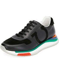 57aa072ad10 Ferragamo - Men s Brooklyn Sneakers W  Rainbow Sole - Lyst
