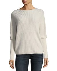 Neiman Marcus - Shaker-stitch Cashmere Pullover - Lyst