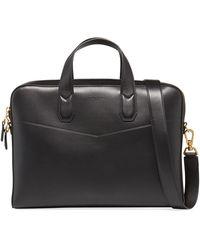 Dunhill Men's Duke Single-document Leather Briefcase - Black