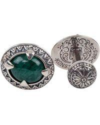 Konstantino Sterling Silver & Aventurine Cuff Links - Green