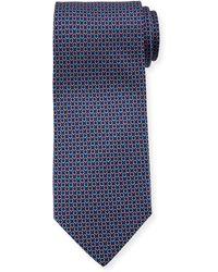 Ferragamo - Interlocking Gancini-print Silk Tie - Lyst