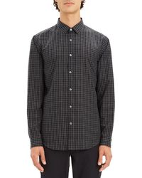Theory - Men's Murrary Flannel Gingham Sport Shirt - Lyst