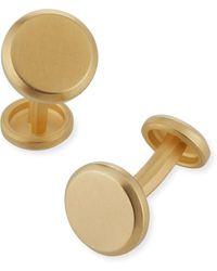 David Yurman Streamline 18k Gold Round Cuff Links - Metallic