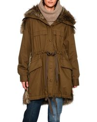 Stella McCartney - Gail Parka With Faux-fur Trim - Lyst