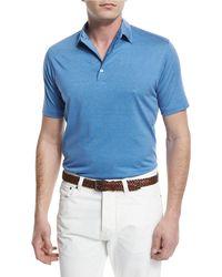 Isaia | Pelleovo Jersey Polo Shirt | Lyst