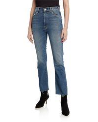 Mother - The Hustler Ankle Fray Straight-leg Jeans - Lyst