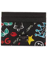 Dolce & Gabbana - Dg Graffiti Leather Card Case - Lyst