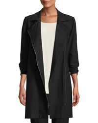 Eileen Fisher - Washable Stretch Crepe Moto Jacket Petite - Lyst