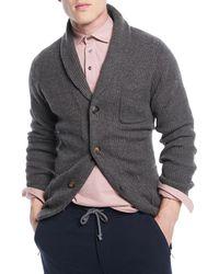 Brunello Cucinelli - Men's Cashmere Shawl-collar Cardigan Sweater - Lyst