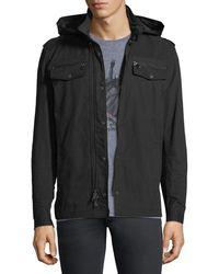 John Varvatos - Double-zip Hooded Shirt Jacket - Lyst