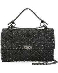 Valentino   Rockstud Large Quilted Shoulder Bag   Lyst