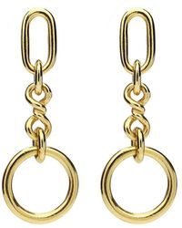 Ben-Amun Chain-link Drop Earrings - Metallic
