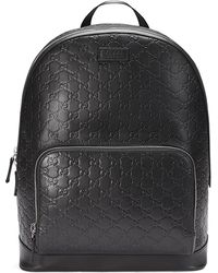55bece4e6 Gucci Leather Backpack With Bamboo in Black for Men - Lyst
