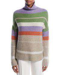Loro Piana - Darlington Turtleneck Striped Cashmere Knit Sweater - Lyst
