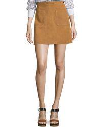 FRAME - Le High A-line Skirt - Lyst