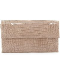 Nancy Gonzalez - Simple Flap Crocodile Clutch Bag - Lyst