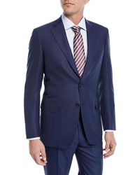 Brioni - Solid Box-weave Wool Two-piece Suit - Lyst