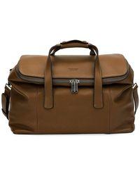 Giorgio Armani - Deerskin Leather Weekender Bag - Lyst