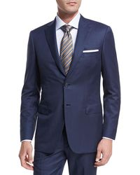 Brioni - Textured Solid Wool Two-piece Suit - Lyst