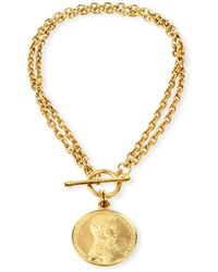 Ben-Amun - Moroccan Coin Double-chain Necklace - Lyst